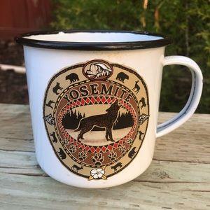 Yosemite Enamel Tin Metal Cup Coffee Mug Camping
